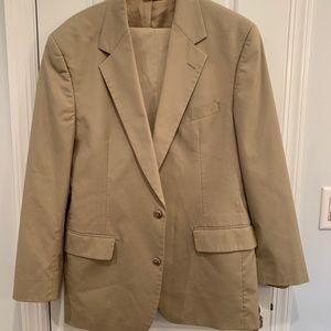 Brooks Brothers Khaki Suit.